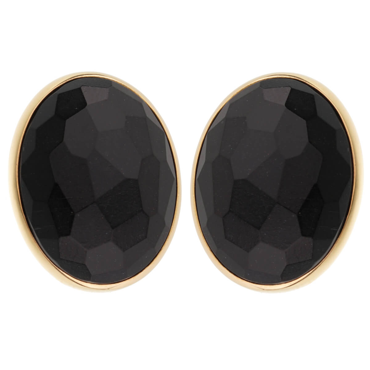 Pomellato 17.90ct Black Jet Rose Gold Earrings