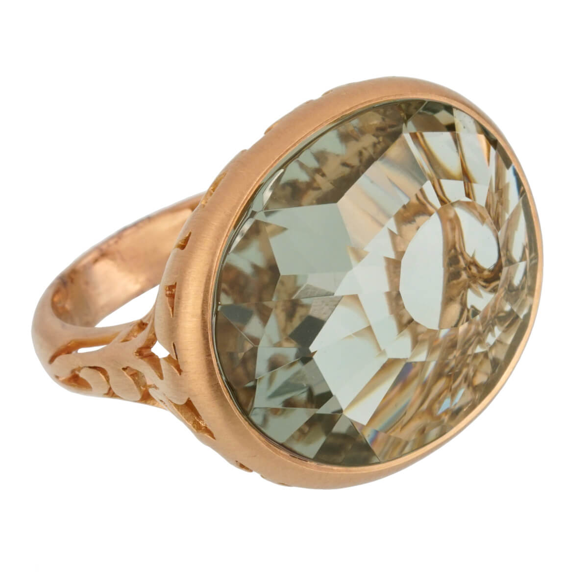 Pomellato 10.19 Carat Prasiolite Cocktail Rose Gold Ring Sz 6 3/4