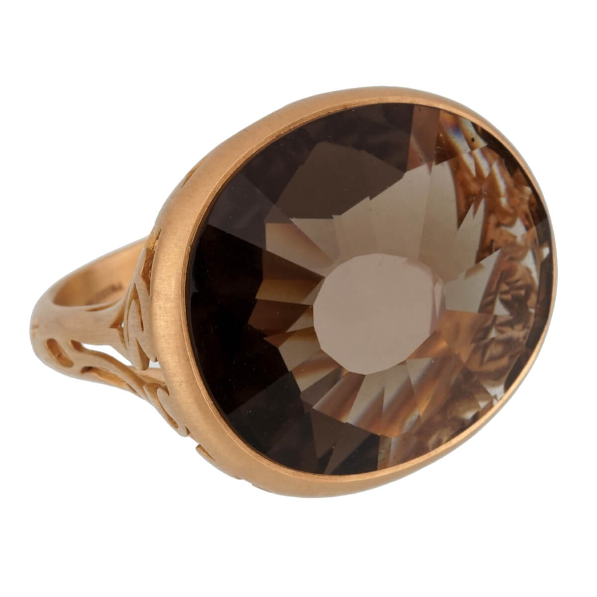 Pomellato 10 Carat Smoky Quartz Cocktail Rose Gold Ring Sz 7 1/2