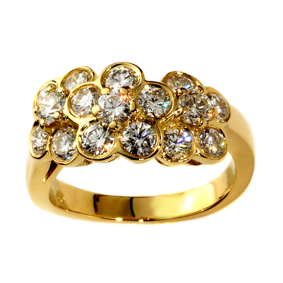 Van Cleef and Arpels Fleurette Diamond Gold Ring