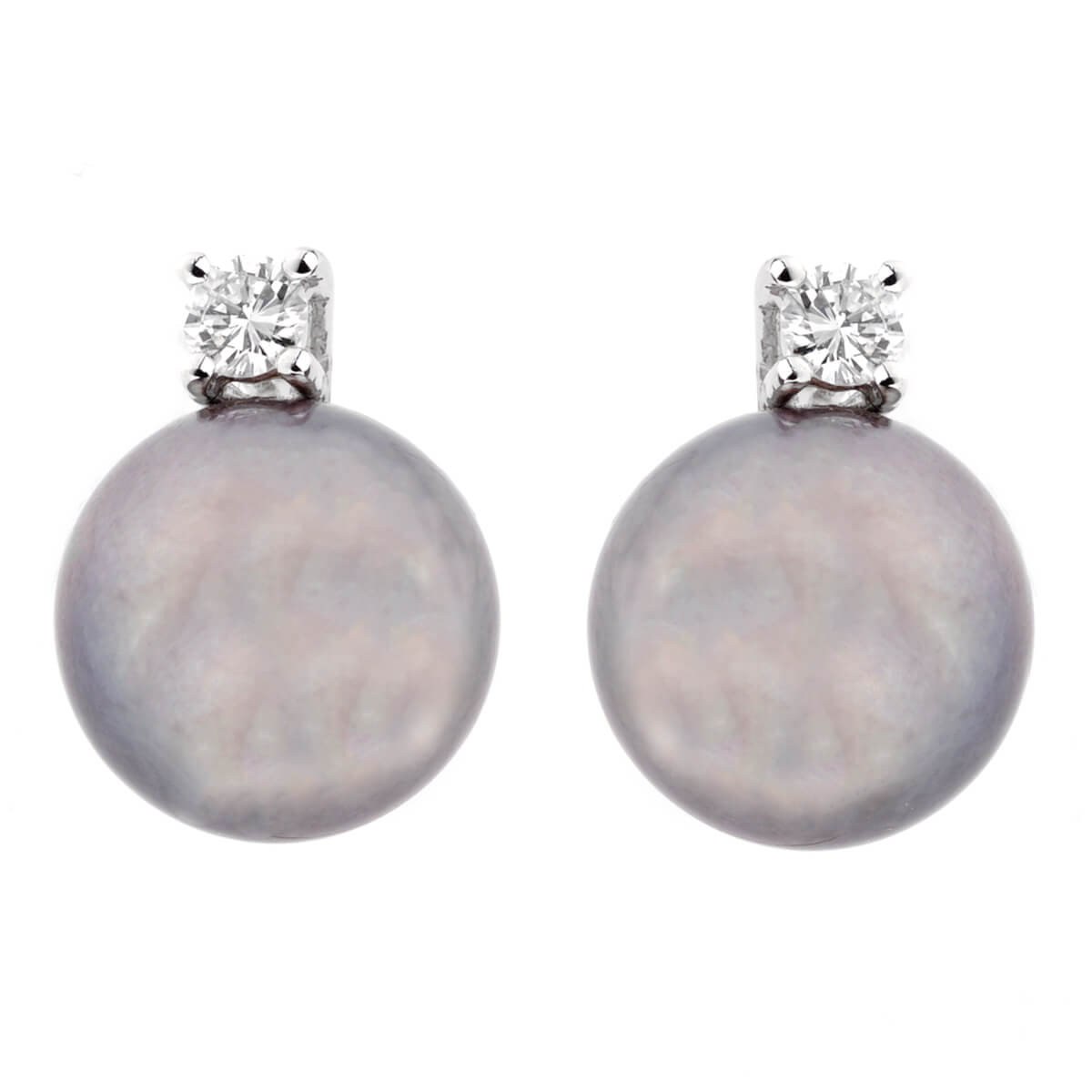 Salvini Pearl Diamond 18k White Gold Earrings